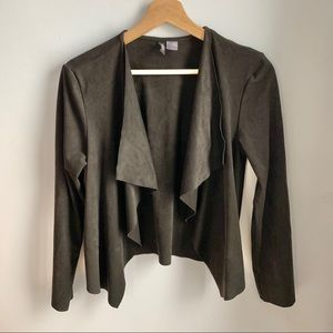 H&M DIVIDED  brown faux suede jacket